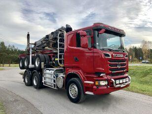 SCANIA R 730 V8 6x4 Dzwig LOGLIFT 251S Do Drewna KOMPLET Holztransporter LKW