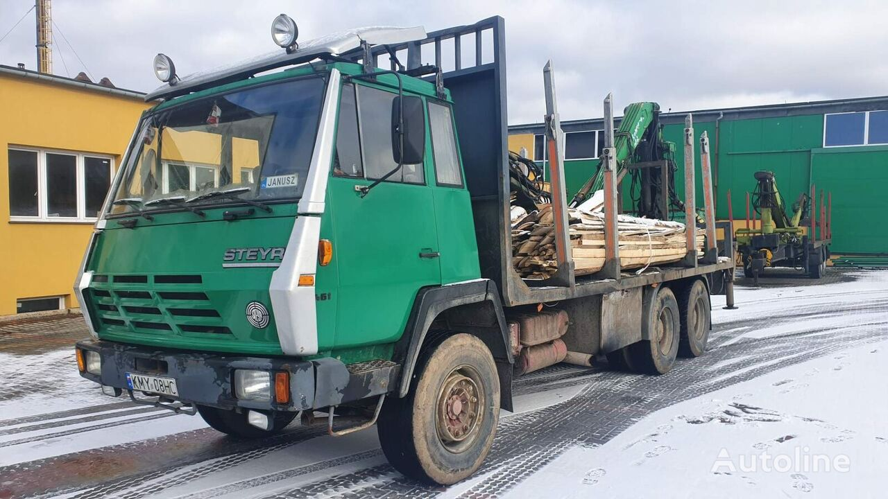STEYR 1491 Holztransporter LKW