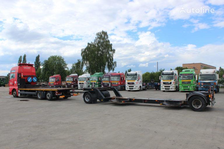 MAN 24.410  Plattform LKW + Tieflader Anhänger